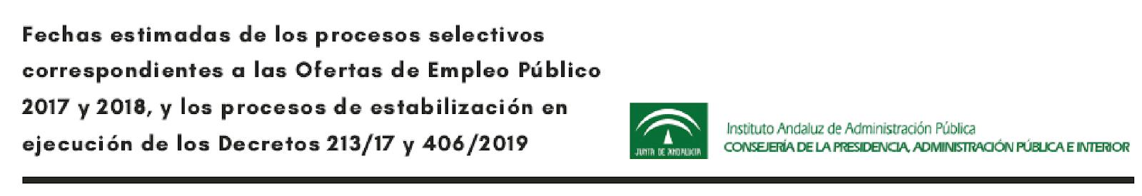 Próximas convocatorias Junta de Andalucía 2